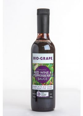BIO-GRAPE Certified Organic Red Wine & Pepperberry Sauce