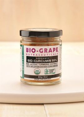 BIO-GRAPE Certified Organic BIO-CURCUMIN 95% bio-active turmeric extract